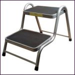 Maypole CARAVAN STEP - DOUBLE STEEL (silver)